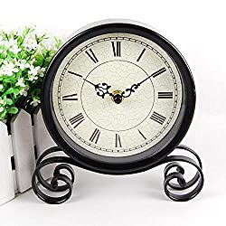 Iron clock retro fashion simple sit clock