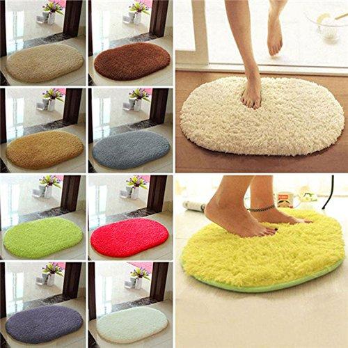 - Chezaa 11.8''X15.7'' Anti-Skid Fluffy Shaggy Area Rug Home Bedroom Bathroom Floor Door Mat (Hot Pink)