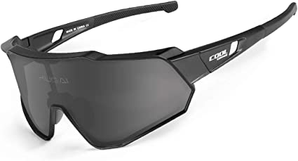 RockBros Cycling Polarized Full Frame Sunglasses Goggles Black Red Glasses