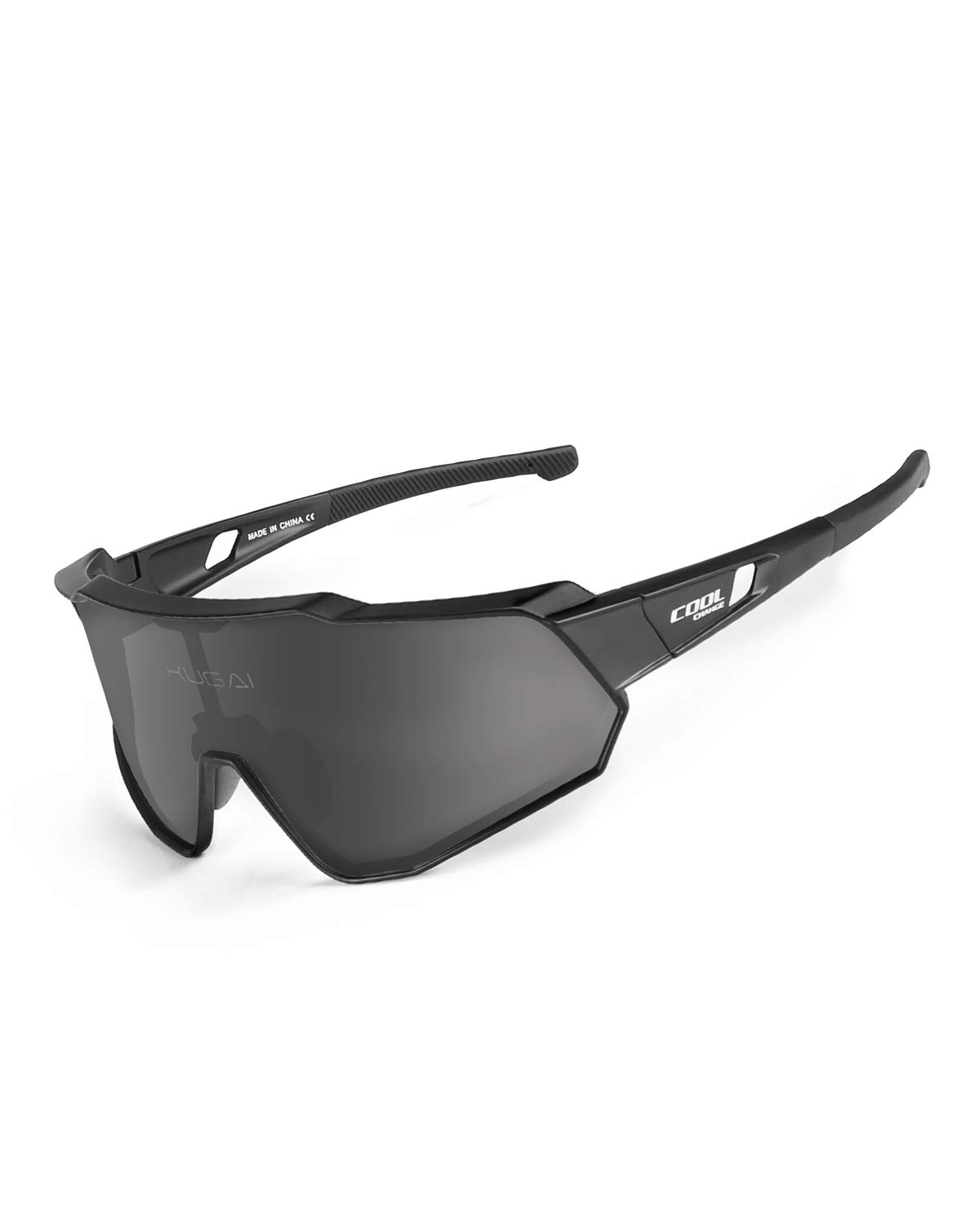 Cool Change Polarized Cycling Sunglasses Full Screen TR90 Unbreakable Lightweight Sports Glasses for Men Women