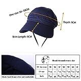 Women Summer Sun Hat Roll Up Visor UV Protection