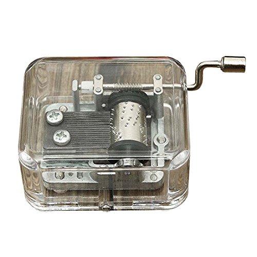 (Semoic Mini Music Box Music Box Barrel Organizer Crank Hand Crank DIY 1 Melodies for Elise )