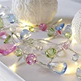 gem light - 10 LED Imitation Crystal Gem Acrylic String Lights Battery Operated for Diy Decoration Christmas Party, Wedding, Garden