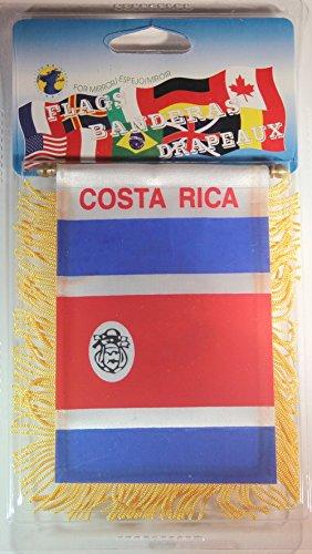 """Costa Rica Flag Rear View Mirror Mini Banner 4""""x 5.5"""""""