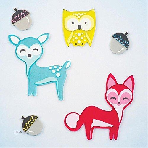 Design Ideas GelGems Fall Themed Gel Window Clings (Little Critters, Small Bag)