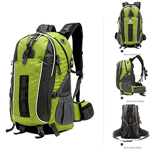AMOS Al aire libre alpinismo bolso mochila hombres y mujeres viajes viaje mochila mochila al aire libre 45L ( Color : Naranja ) Verde