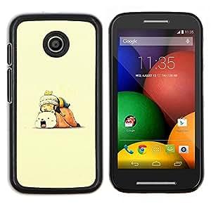 Qstar Arte & diseño plástico duro Fundas Cover Cubre Hard Case Cover para Motorola Moto E (Spleey Amigos)