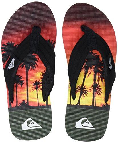 Orange Sandals Quiksilver Black Molokai Orange Layback wESSxRqX