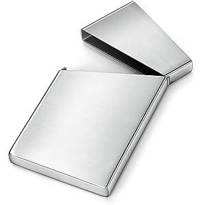 メンズ名刺入れ 名刺入れ男性用名刺入れ携帯用クリエイティブ名刺箱高級超薄型小型クレジットカード箱オフィスギフト (Color : Metallic, Size : 10*6*1.2cm)