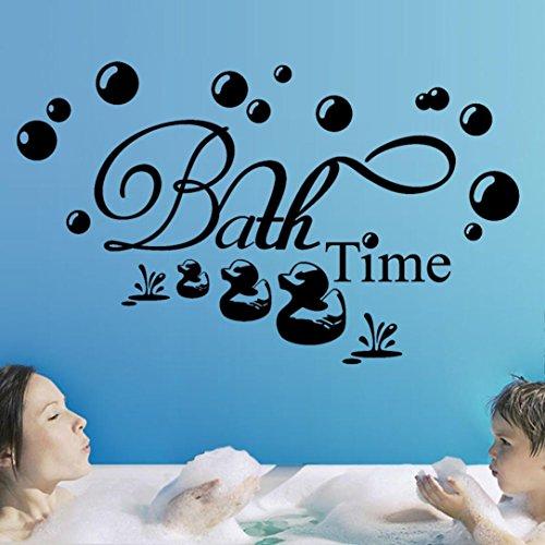 YJYDADA Wall Stickers,Bath Time Removable Art Vinyl Mural Home Room Decor(75cm x 45cm)
