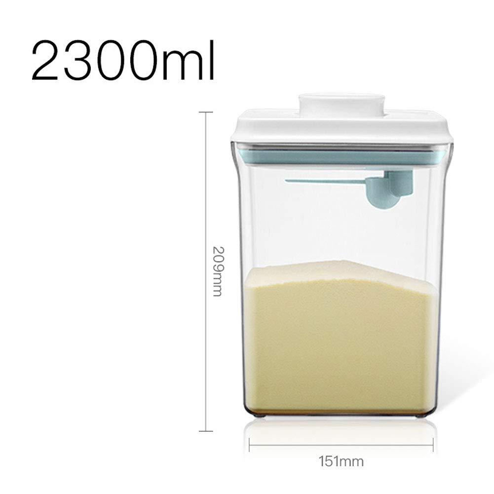 YFASD Dosificador De Leche En Polvo Port/átil Dispensadores De Cereal Anti-UV Bpa F/órmula Libre Polvos En Jarra con Tapa De Pl/ástico para Leche En Polvo Snacks Cereales,1L