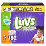 Health & Personal Care : luvs diapers size 3, 186 count