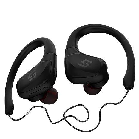 Mumuj J11 - Auriculares deportivos Bluetooth 4.2, resistentes al ...