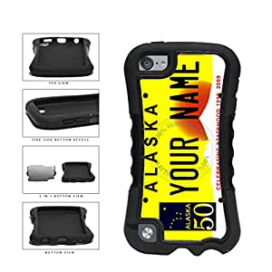 Personalized Custom Alaska License Plate 2-Piece Dual Layer Phone Case Back Cover Apple iPod Touch 5th Generation includes BleuReign(TM) Cloth and Warranty Label