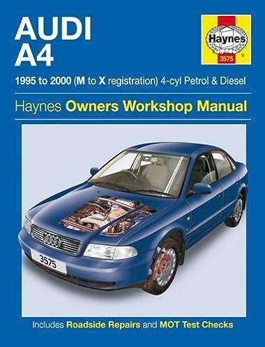 audi a4 petrol diesel 95 00 haynes repair manual 1995 to 2000 rh amazon co uk 98 Audi A4 2002 Audi A4