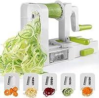 Spiralizer 5-Blade Vegetable Spiralizer Sedhoom Foldable Spiral Slicer Zucchini Noodle Veggie Pasta Spaghetti Maker for...