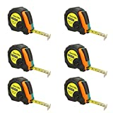 10ft Power Tape Measure Auto Lock (10-Foot 6-Pack)