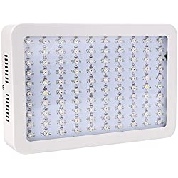 Full Spectrum Plant Grow Light,300W (100pcs 3W)LED Flower Lamp for Angiosperms Hydroponics Greenhouse US Plug, White