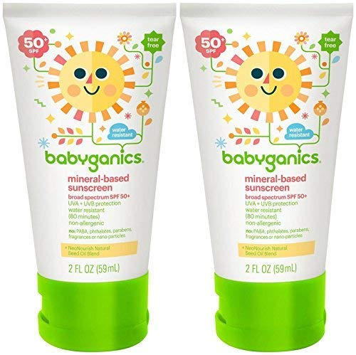 Babyganics Mineral Based Sunscreen - Spf 50+ - Fragrance Free - 2 Oz - 2 Pk