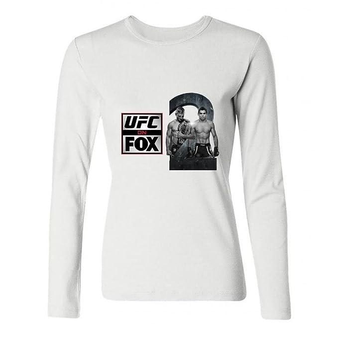 jonnert Mujer TJ DILLASHAW UFC Manga Larga Algodón Camiseta Xxl