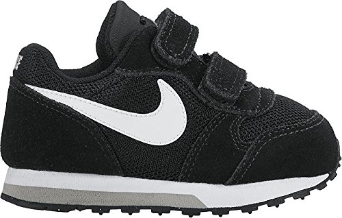 Nike Unisex Baby MD Runner 2 (TDV) Sport & Outdoorschuhe, Grau, 26 EU Schwarz (Black/white/wolf Grey 001)