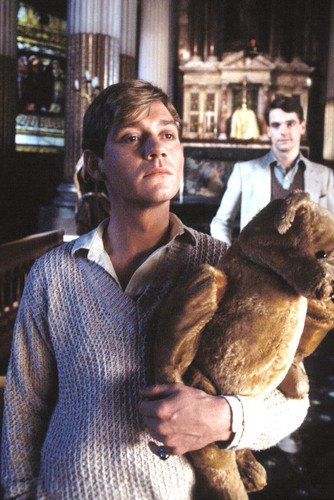 Anthony Andrews carrying teddy bear brideshead revisited poster color