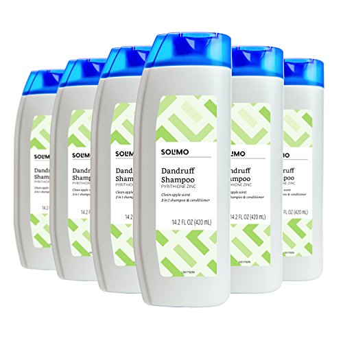 Amazon Brand - Solimo 2-in-1 Dandruff Shampoo, Clean Apple Scent, 14.2 Fluid Ounce (Pack of 6)
