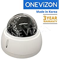 ONEViZON Professional 1080p TVI-CVBS Outdoor Dome Camera 2.8mm 24 LED, Made in KOREA