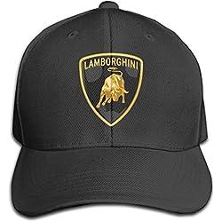 MaNeg Lamborghini Logo Adjustable Hunting Peak Hat & Cap