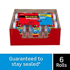 Scotch Heavy Duty Shipping Packaging Tape seals seams with one strip and keeps boxes closed. It also resists slivering, splitting and tearing. Now even the heaviest packages can withstand rough handling.
