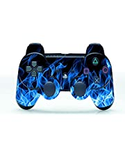 Vinyl Skin Sticker Protector for Sony Playstation 3 PS3 Controller Blue Fire