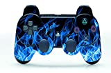 Gebaisi Vinyl Skin Sticker Protector for Sony Playstation 3 PS3 Controller Blue Fire