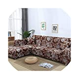 Slipcover Sofa Cover Tight Wrap All-Inclusive Stretch Sofa Covers for Living Room Washable Home Hotel Couch Cover Copridivano,Color 19,2Seater 145-185Cm