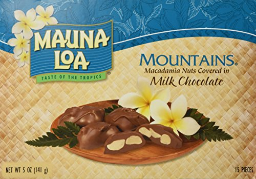 Mauna Loa Mountains Milk Chocolate Covered Macadamia Nuts, 15-Count, 5-Ounce package ()