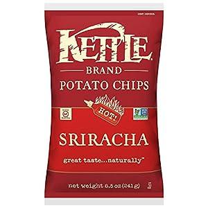 Kettle Brand Potato Chips, Sriracha, 8.5-Ounce Bags (Pack of 12)