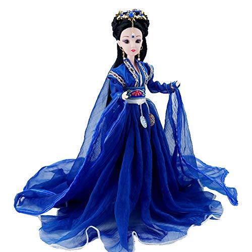 Dressed Up Chinese Doll, Oriental Decor, Decorative Figurine for Bedside Table, Desktop Decor