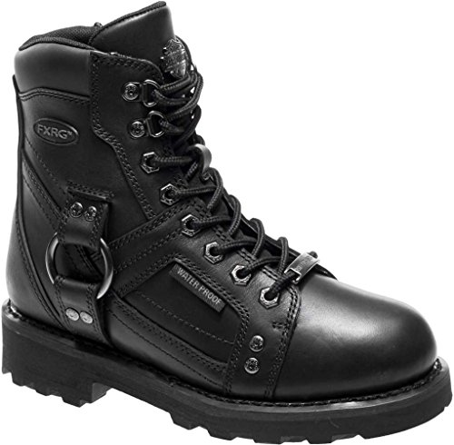 (Harley-Davidson Women's Everton 6-In FXRG WP Motorcycle Boots D87116 (Black, 9))