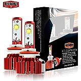 Akarui LED Headlight Bulbs Conversion Kit - Single Beam - CREE XHP70 LED - 9.600 lumens - 6K Cool White - 2-Year Warranty - Pair - H8 (H9/H11/H16)