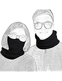 Qinglonglin 2 Pack Fleece Winter Neck Warmer for Men Women Ski Neck Gaiter Cover Face Mask