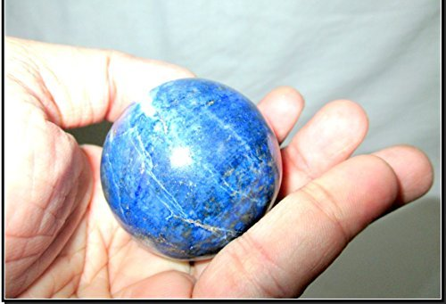 - Jet Lapis Lazuli 45-50 mm Approx. Ball Sphere Gemstone A+ Hand Carved Crystal Altar Healing Devotional Focus Spiritual Chakra Cleansing Metaphysical