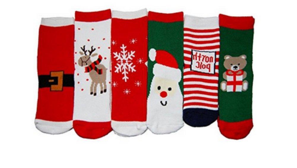 Chaussettes bébé / enfant, chaussettes de Noël automne / hiver (1-10 ans) (3 paires, 4-6 ans) chaussettes de Noël automne / hiver (1-10 ans) (3 paires Stillshine