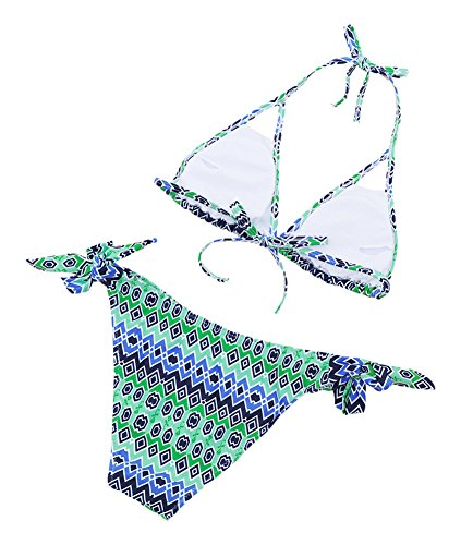 DATO Damen Bademode Triangel Bikini Halfter Badeanzug