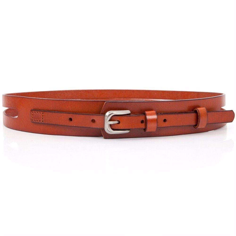 NSSBZZ Birthday gifts Female. Genuine leather。 Belt。 Cowhide。 It's wide. Waist. Belt. Windbreaker。 Down。 The waist. Decoration. Belt。 Leisure time,brown