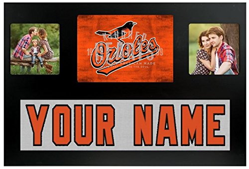 (Baltimore Orioles MLB Custom Jersey Nameplate and Logo Picture Frame)