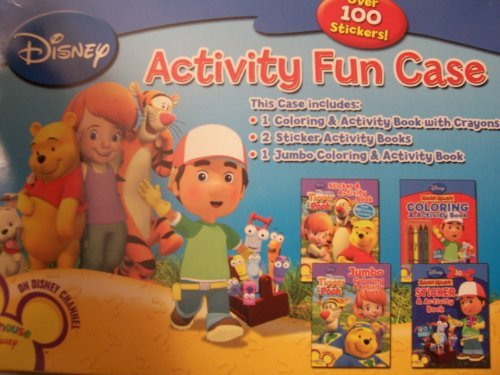 Disney Playhouse Activity Fun Case ~ 4 Coloring, Activity, or Sticker Books with Crayons in an Easy to Carry Case!