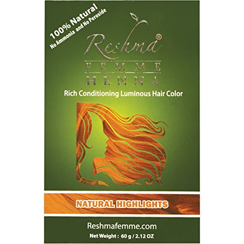 Reshma Femme Rich Conditioning Luminous Hair Color, Natural Highlights, 2.12 - Highlight Henna