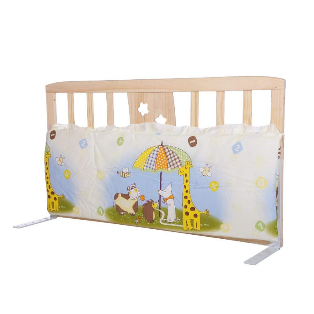 ベッドレール 子供/子供のための携帯用ベッドの柵、ドア、60cm / 90cm / 98cmが付いている幼児のための純木の赤ん坊のBedrailのまぐさ桶のガードレール (サイズ さいず : 98cm) 98cm  B07PKFFZ1B