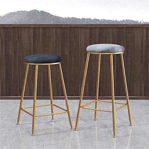 CCJW Bar Tabouret Hauteur comptoir métal/Fer Terminer Pub/Restaurant/Accueil Cuisine - Backless Chaise Haute avec Coussin en Velours Doux (Size : 45cm)