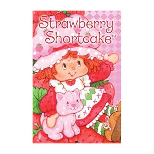 Strawberry Shortcake and Custard 36x24 Art Print Poster Wall Decor Girls Room Cute Sweet The World of Strawberry (Strawberry Shortcake Poster)