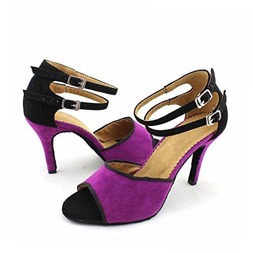 misu - Zapatillas de danza para mujer morado morado
